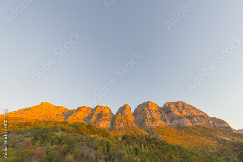 Foto op Canvas Australië Greece landscape view of Meteora mountains at a winter sunny day