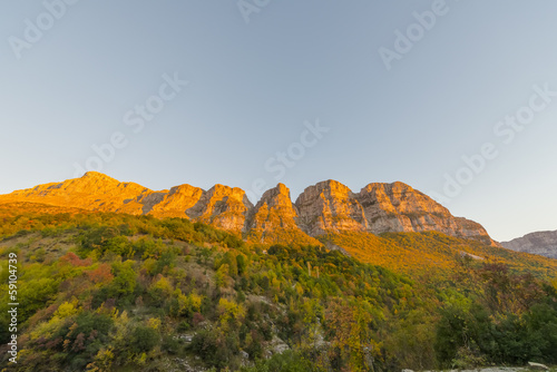 In de dag Australië Greece landscape view of Meteora mountains at a winter sunny day