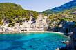 Blue lagoon in Mallorca island
