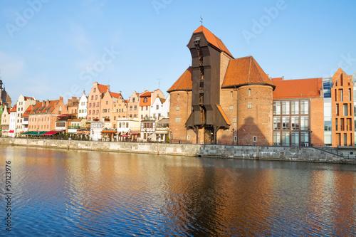Zuraw and old waterfront, Gdansk © neirfy