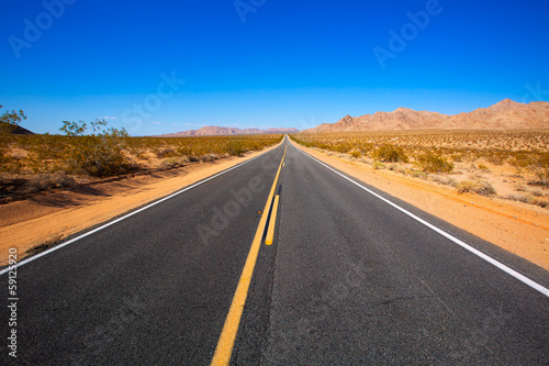 Spoed Foto op Canvas Route 66 Mohave desert by Route 66 in California USA