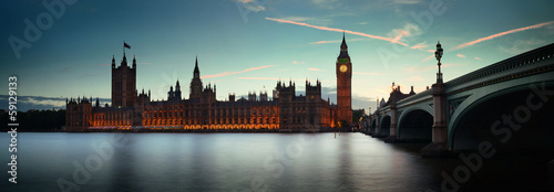London at dusk Wallpaper Mural