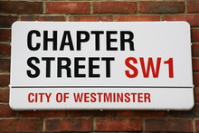 Chapter Street Sign A Famous Address In London
