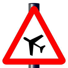Low Flying Aircraft Traffic Sign