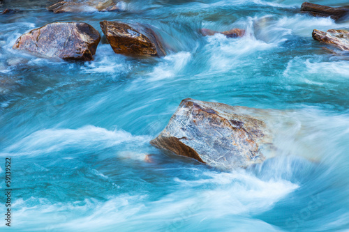 Photo sur Aluminium Riviere Glacier river