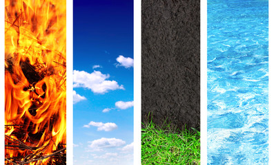 Panel Szklany Krajobraz Set of banner with nature elements