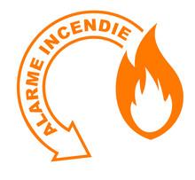 Alarme Incendie Flèche Orange
