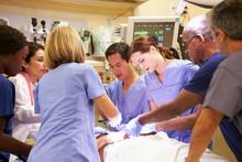 Medical Team Working On Patien...