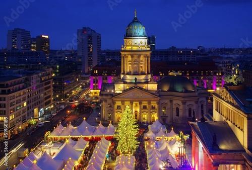 Foto auf AluDibond Berlin Berlin Weihnachtsmarkt Gendarmenmarkt 20
