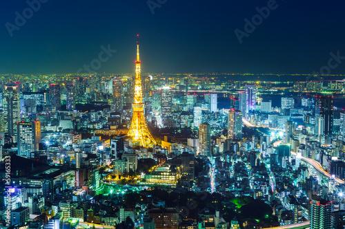 Foto op Aluminium Tokyo Tokyo night