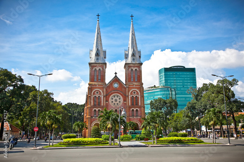Valokuva  Notre-Dame Cathedral in Ho Chi Minh City, Vietnam.