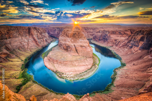 Canvas Print Horseshoe Bend, Grand Canyon
