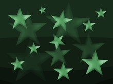 Decorative Background With A Blur Stars In A Green Colors.