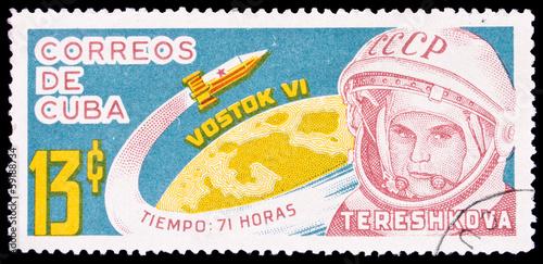 Photo Cuba stamp, Tereshkova
