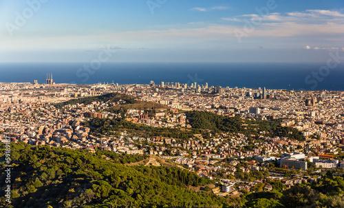 Photo View of Barcelona including Sagrada Familia and Torre Agbar