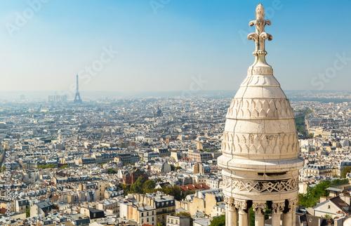 View of Paris from Sacre Coeur basilica, France фототапет