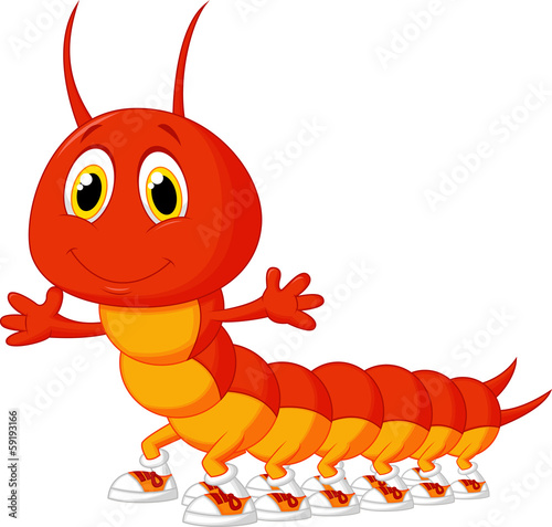 Fotografija Cute centipede cartoon