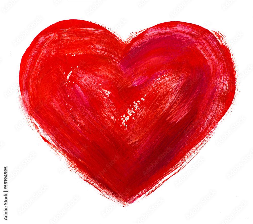 akwarele serca. Koncepcja - miłość, związek, sztuka, malarstwo