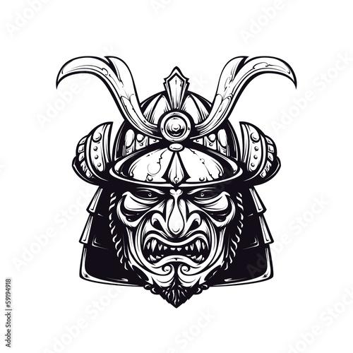 Foto  Samurai mask clip-art