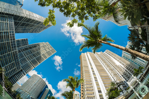 Downtown Miami Tablou Canvas
