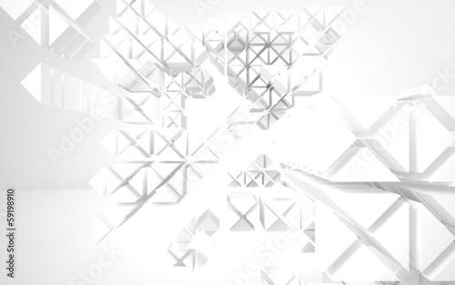 Super Cool Abstract Architectural White Background Kaufen Sie