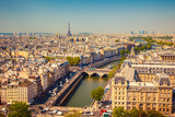 Fototapeta Fototapety Paryż - Aerial view of Paris