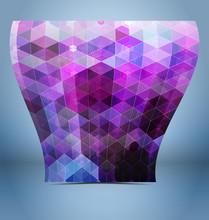 Purple Black Mosaic Template