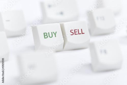 Fotografía  Buy sell concept