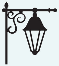 Silhouette Lamp Of Wrought Metal