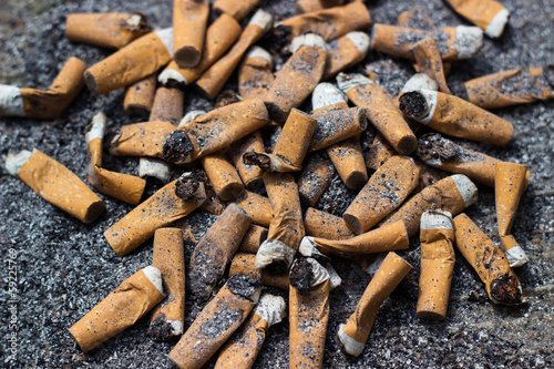 Fotografie, Obraz  Cigarette butts