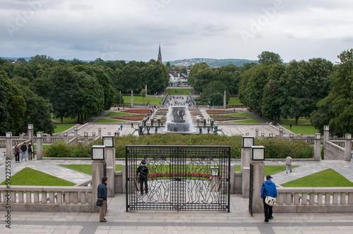Photo  Frogner Park à Oslo en Norvège