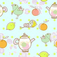 Light Tea Party With Bird
