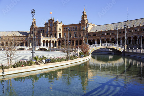 Poster Artistique Plaza de Espana - Spanish Square in Seville, Spain