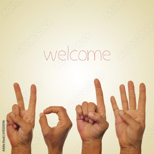 welcome 2014 Canvas Print