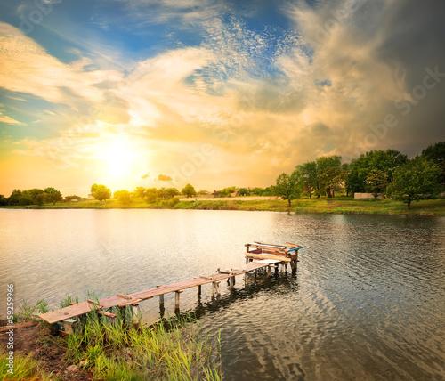 Photo Wooden dock