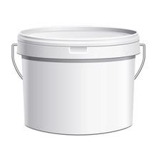 Seau Plastique Blanc Anse Métal
