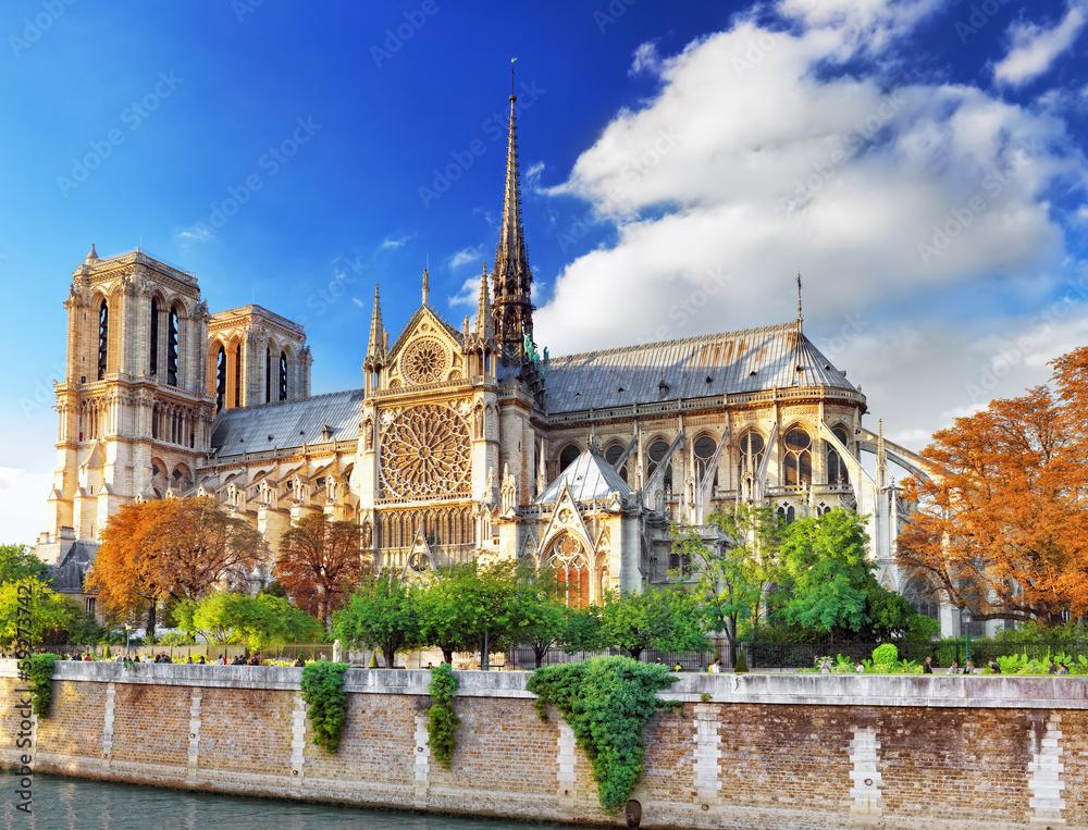 Fototapety, obrazy: Notre Dame de Paris Cathedral.Paris. France.