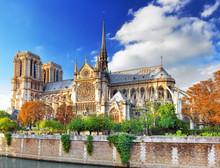 Notre Dame De Paris Cathedral.Paris. France.
