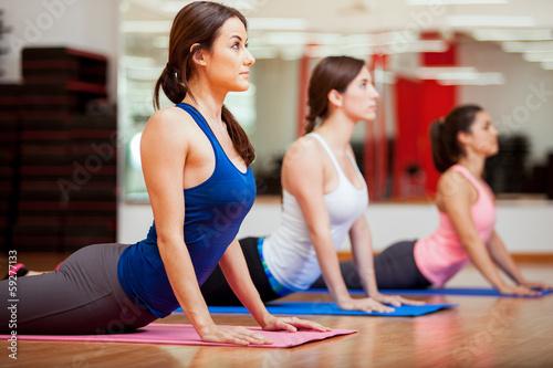 Working on the cobra yoga pose