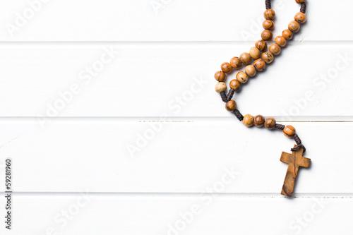 Fotografia Wooden rosary beads