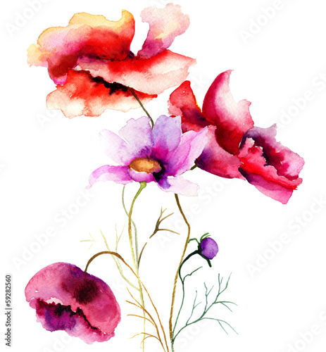 akwarela-ilustracja-z-kwiatami