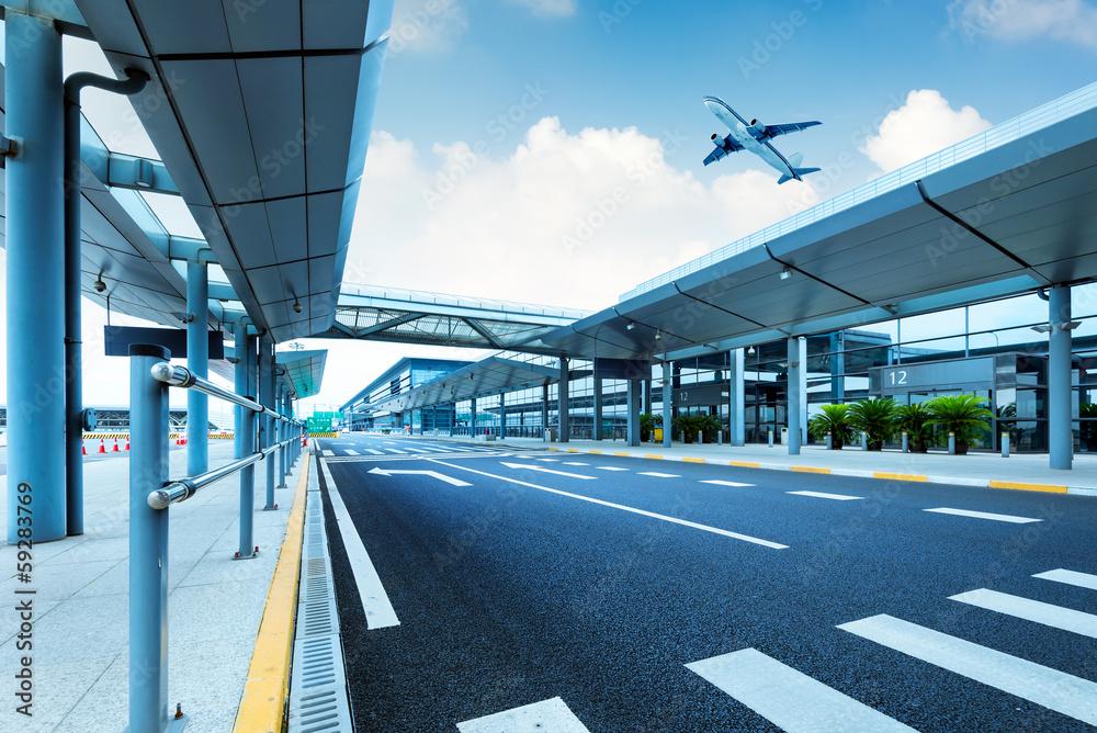 Fototapeta Shanghai Pudong Airport road