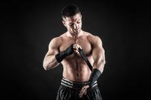 Sportsman Kick Boxer Portrait ...