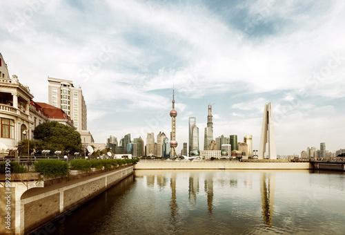 Canvas Prints Berlin shanghai skyline