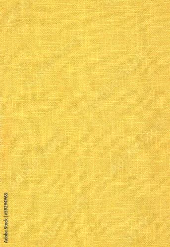 Fototapety, obrazy: Fond jaune en toile de lin.