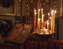 Interior Of Belarusian Orthodox Church.