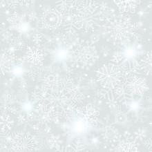 Seamless Silver Christmas Pattern
