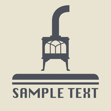 Oven Stove Icon Or Sign, Vector Illustration