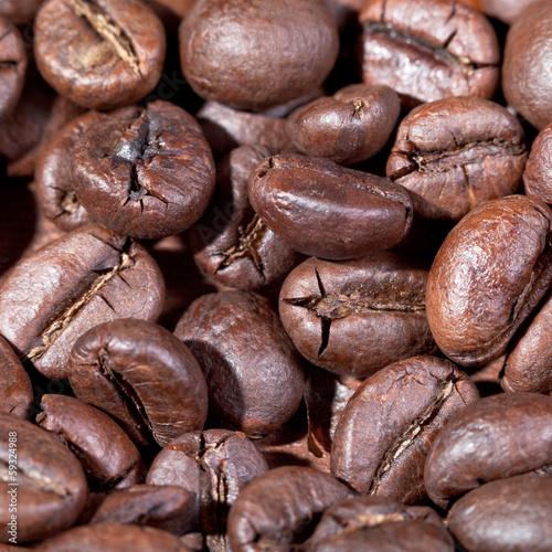 Canvas Prints Coffee beans roasted coffee beans macro shot
