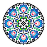 Polish traditional folk pattern in circle